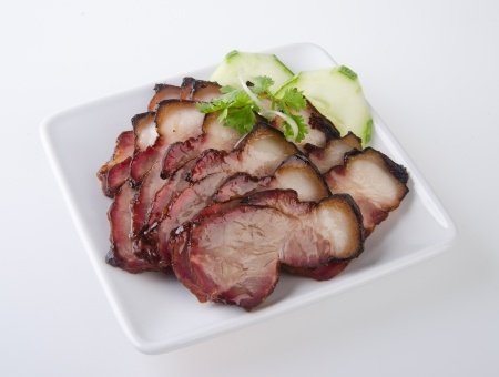 pork  BBQ Pork and Crispy Pork with Rice  photo