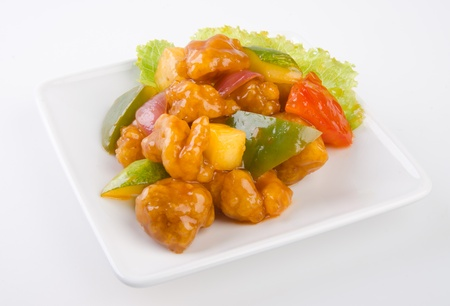 pork sweet and sour pork saia food Stock Photo - 13483969