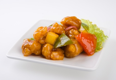 pork sweet and sour pork saia food photo
