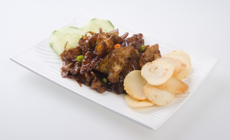 pork. chinese cuisine asia food photo