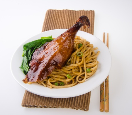 Duck noodle food. asia food Stock Photo - 13484028