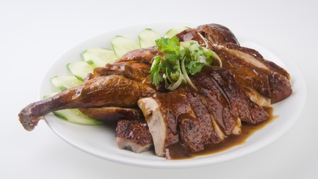 duck  roast duck traditional chinese cuisine photo