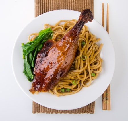 Pato fideos Asia Food alimentos photo