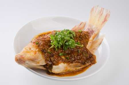 fish  steamed fish chinese style photo