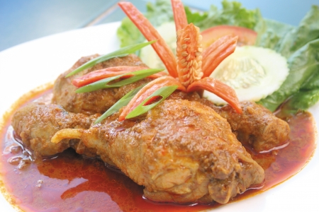 Chicken Curry, food chicken asia food Stock Photo
