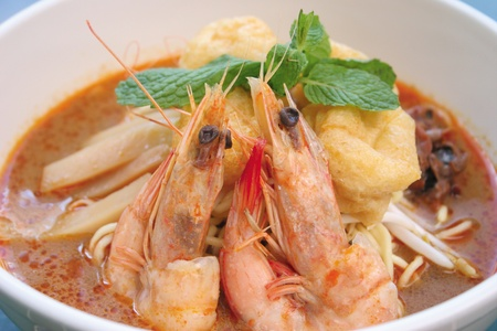 Prawn noodle - Malaysian food spicy noodles Stock Photo - 13529063