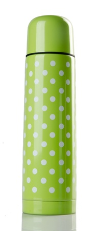Thermo flask on the white background photo