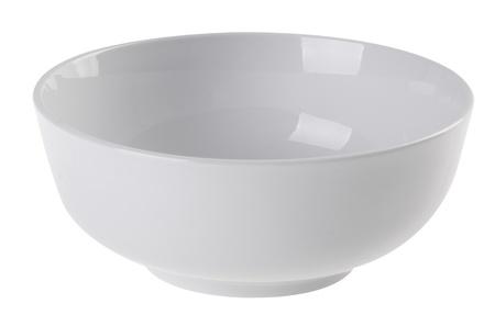 bol vide: bol, bol en c�ramique sur fond blanc Banque d'images