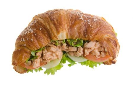 multi grain sandwich: sandwich, croissant sandwich, fast food for breakfast or lunch