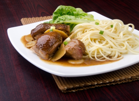 Duck noodle food  asia food photo