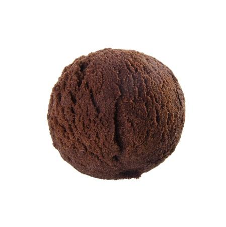 helado de chocolate: bola de helado helado de chocolate