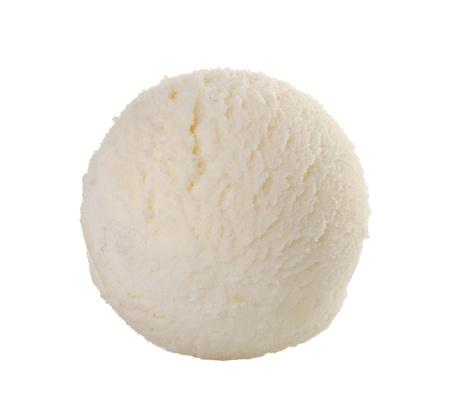 helado cuchara de helado de vainilla