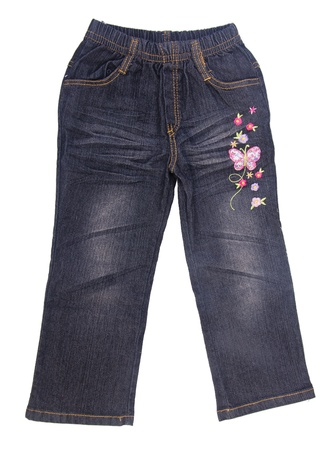 fashion  babies's wear: Jeans, baby jeans on the blackground