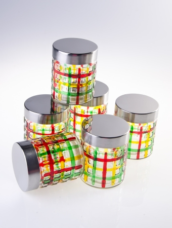 food containers on white background  photo