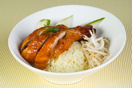Chicken Rice on the background, asia food Stock Photo - 14757148