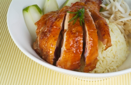Chicken Rice on the background, asia food Stock Photo - 14757143