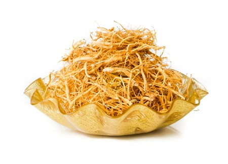 ginseng. Dried Ginseng On Background photo