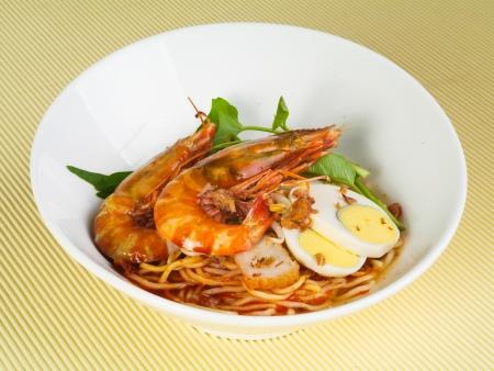 prawn: Fideos de gambas - Malasia alimentos picantes fideos