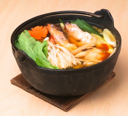 japanese seafood soup, asian cuisine. photo