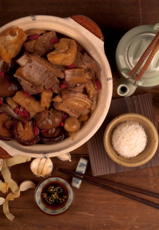 ba kut teh. Malaysian stew of pork and herbal soup, photo