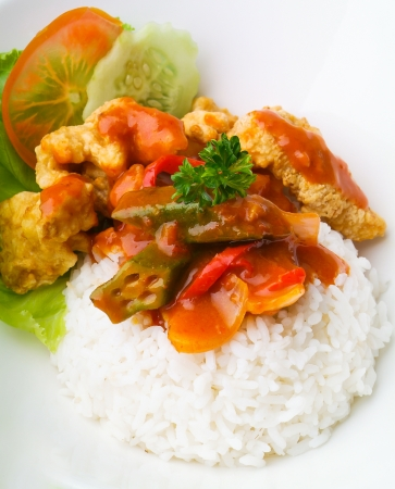 pork sweet and sour pork saia food. Stock Photo - 14910739