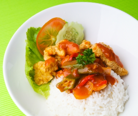 pork sweet and sour pork saia food. Stock Photo - 14910764