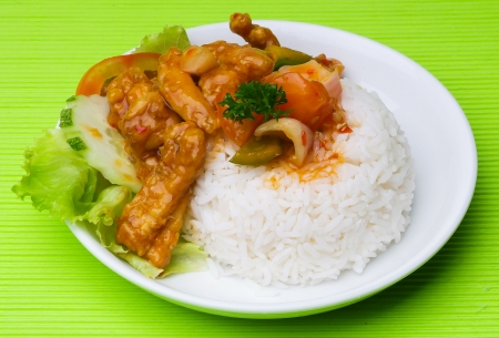 pork sweet and sour pork saia food. Stock Photo - 14910973