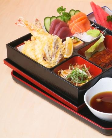 bento: Japanese Bento Lunch set with background