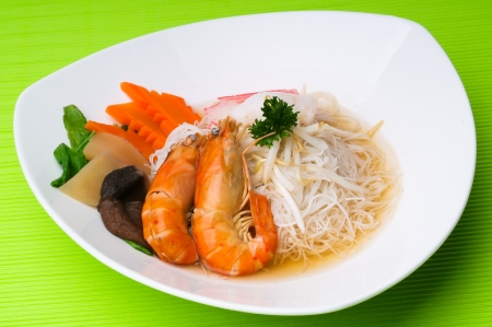 Prawn noodle - Malaysian food spicy noodles. Stock Photo - 14910776
