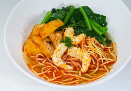 Prawn noodle - Malaysian food spicy noodles. Stock Photo - 14913136
