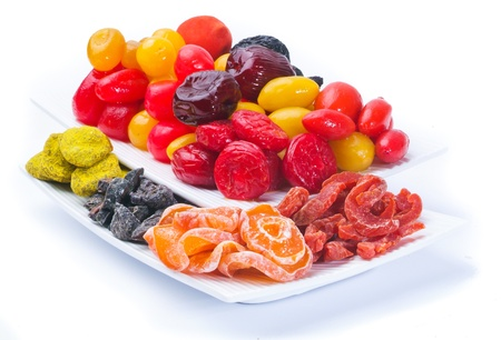 Dried fruits on the background photo