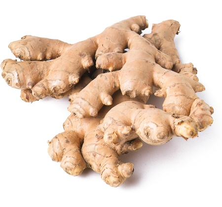 Ginger. Ginger root on background photo