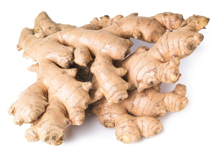 Ginger. Ginger root on background Stock Photo