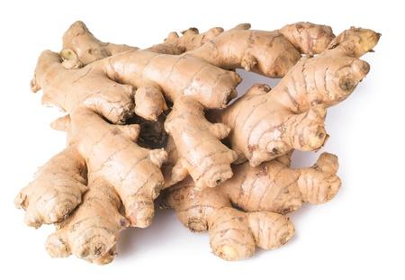 planta con raiz: Ginger. Ra�z de jengibre en el fondo