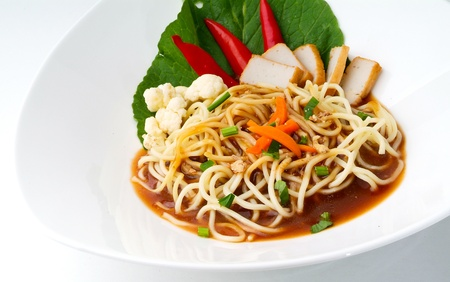 Noodle. Curry Noodle on the background Stock Photo - 14912753