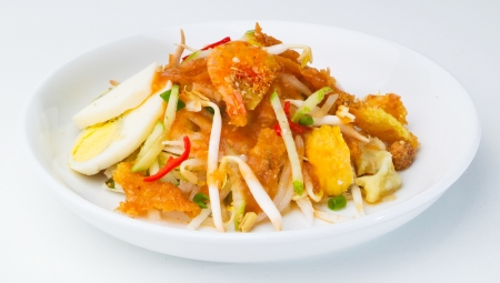 Rojak, Asian salad rojak on the background