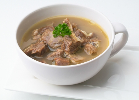 mutton: Mutton soup, mutton soup or soup kambing Stock Photo