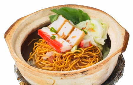 Claypo noodles. the asia food Stock Photo - 14913089