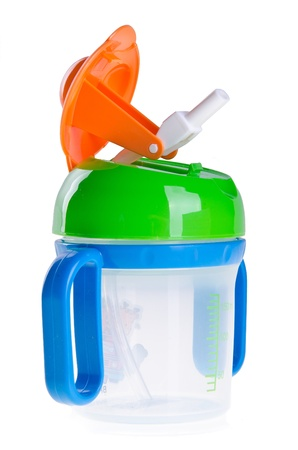 aliment: baby bottle, baby bottle on the background Stock Photo
