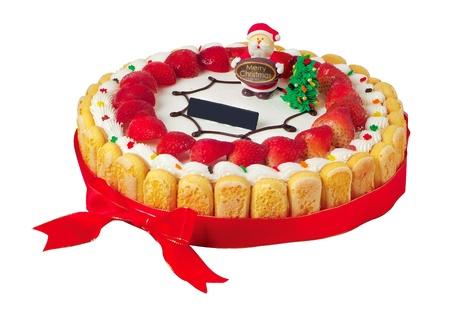cake, Christmas ice cream cake on background photo