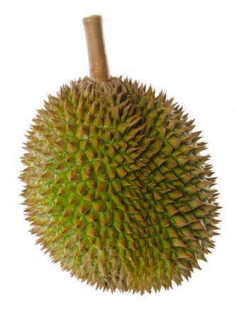 Durian, the king of fruits in South East Asia on background  photo
