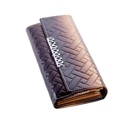 wallet, woman or lady wallet on the background. photo