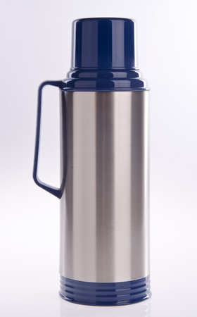 thermo: Thermo flask on the white background