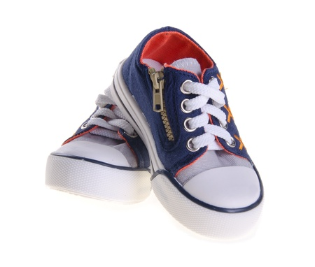 shoes, kid shoes on the background. Stock Photo - 15869547