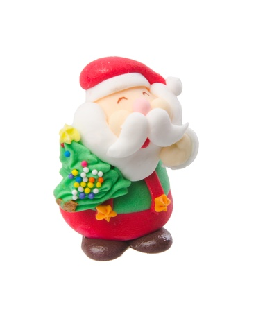 figurines: Santa Claus figurine on the background