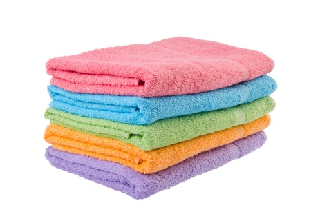 towel, bath towel on the background. Stock Photo - 16619106