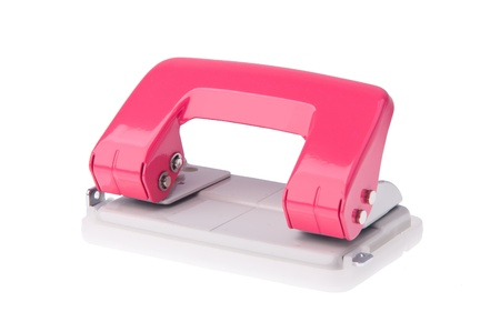puncher: Hole puncher. Office paper hole puncher on background