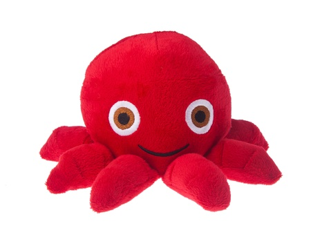 soft toy octopus on the background. Stock Photo - 16797714