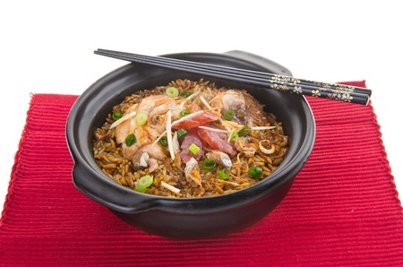 Claypot chicken rice. asia chinese food photo