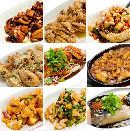 arroz chino: colecci�n comida china. colecci�n comida asi�tica Foto de archivo